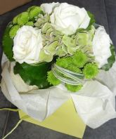 Bridesmaid's Bouquet in Ivory & Sage
